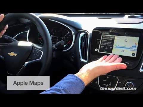 Using Apple CarPlay for Texts Maps Music 2016 Malibu