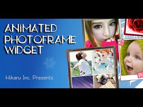 Add pictures to your home screen using the Animated Photo Frame Widget.
