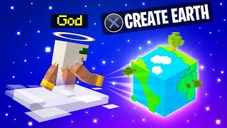 Playing MINECRAFT As A GOD! (Creating Earth)