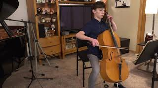 UG STUDENT SHOWCASE: Andrew Siehr / Bach - Cello Suite No.2 in D minor, BWV 1008