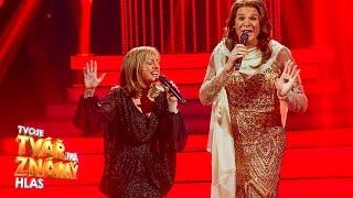 T. Vilhelmová a V. Dyk jako B. Streisand a C. Dion -