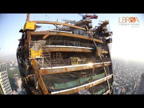 Construction Timelapse of Torre Reforma Skyscraper in Mexico City