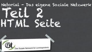 Netorial Teil 2 - Die HTML-Seite