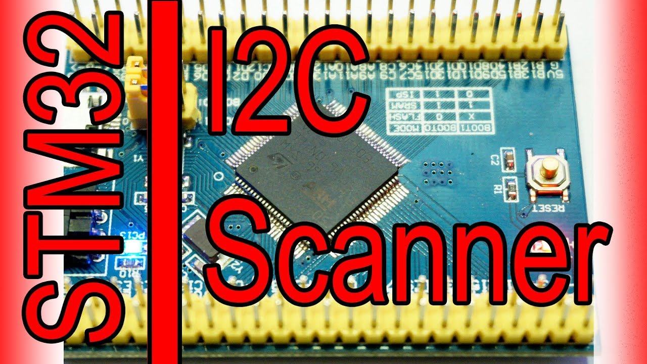 STM32 programming - I2C scanner