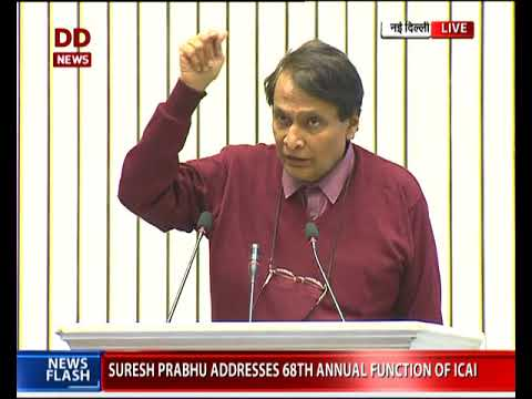 Commerce minister Suresh Prabhu addresses ICAI annual function