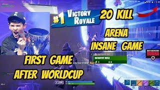 SEN BUGHA DROPS INSANE 20 KILL ARENA INTENSE GAME FORTNITE
