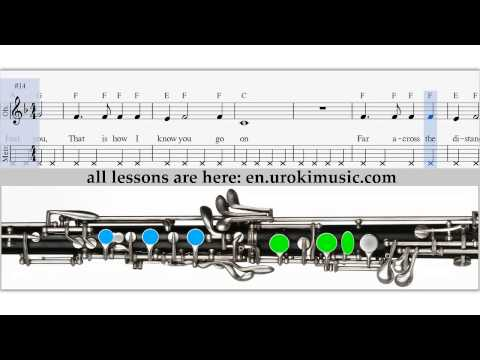 How to Play Oboe - Titanic My Heart Will Go On - Sheet Music Tutorial Lesson