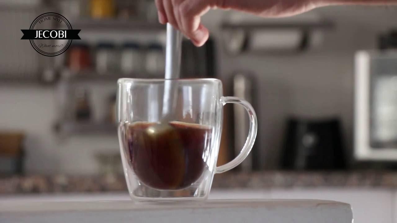 Unique By Jecobi Handmade Double Wall Insulated Glass Coffee Mug