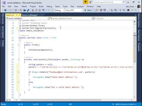How  To Validate Email Address C# Code