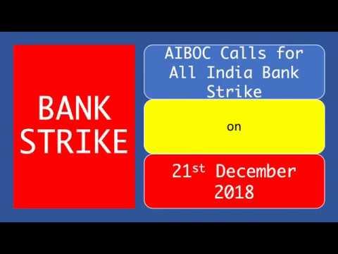 Bank Strike on 21st December 2018 - Bank Strike Latest News