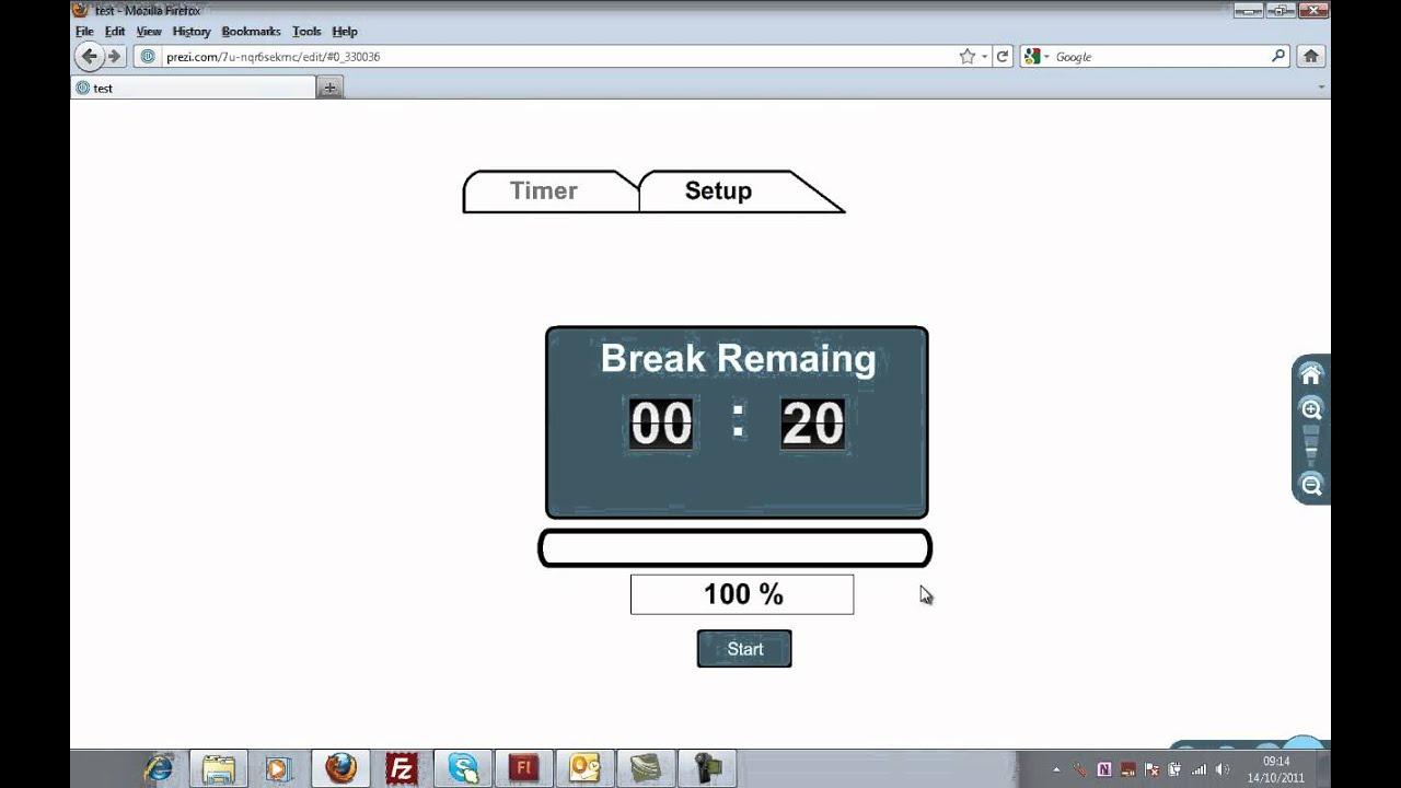 Prezi Break Countdown Addin Application Free To Use