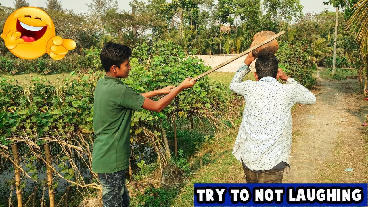 Must Watch New Funny 😂  Comedy Videos 2019 - Episode 8    Funny Village Boys