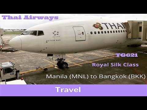 Thai Airways Boeing 777-200ER TG621 | Manila to Bangkok | Royal Silk Class | Full Flight Experience