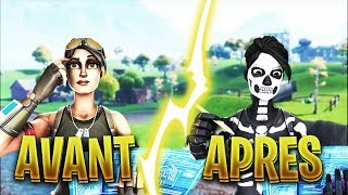 Ma progression AVANT et APRES sur fortnite PS4 !