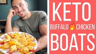𝗞𝗲𝘁𝗼 𝗕𝘂𝗳𝗳𝗮𝗹𝗼 𝗖𝗵𝗶𝗰𝗸𝗲𝗻 𝗕𝗼𝗮𝘁𝘀 | Load Up On Fat & Protein W/ This Quick & Easy Low-carb High-fat Meal!