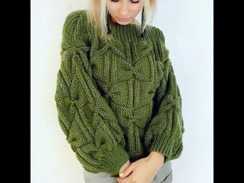 Связать свитер спицами для девушки новые модели с описанием