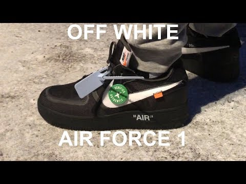 Toddler OFF WHITE Nike Air Force 1 Black Unboxing & Sizing