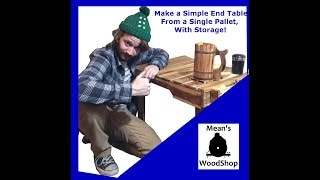 Baixar Make An End Table With Storage From A Single Pallet - Mean's Woodshop