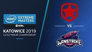 CS:GO - Gambit vs. Winstrike [Overpass] Map 2 - UB Ro4 - IEM Katowice EU Minor 2019