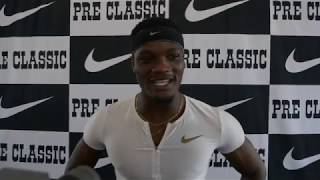 Omar McLeod happy to put exclamation point on his running at Hayward