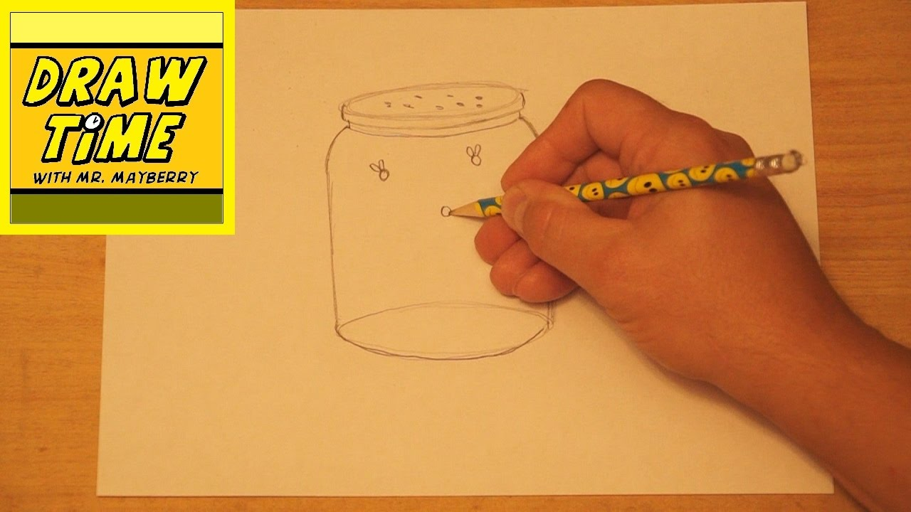 How To Draw A Jar Of Fireflies Youtube