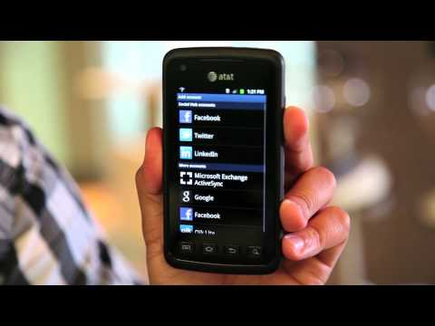 Quick Tip- Setting Up a Social Networking Account on Samsung Rugby Smart