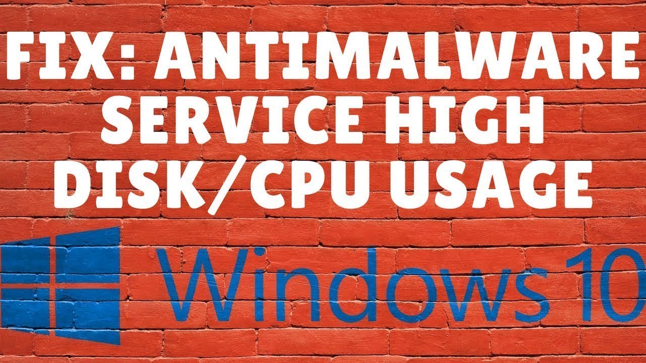 Antimalware Service Executable (High CPU-100% Disk Usage)