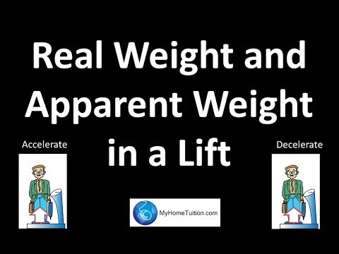 Real Weight and Apparent Weight in a Lift | Force and Motion