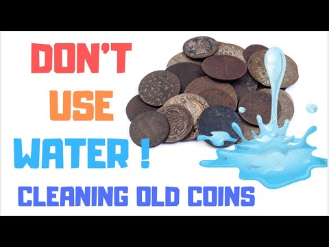 DONT USE WATER CLEANING COINS = Green Corrosion, Oxidization And Rusting Coins, Pennies, Copper Coin