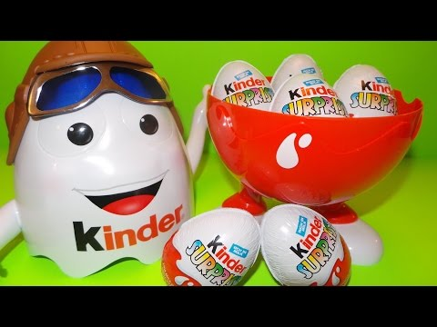 Giant Kinder Surprise Pilot from Airport Duty Free Toy Egg Opening