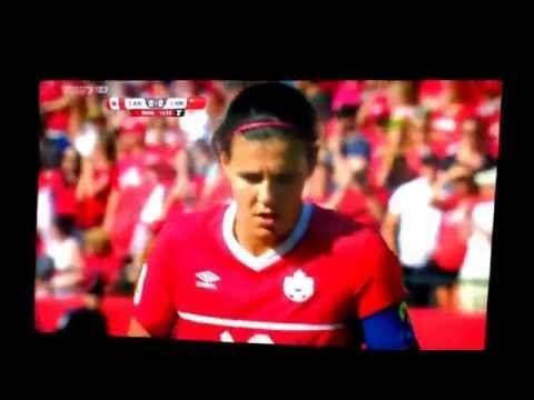 Christine Sinclair Wins Canada vs China  with a penalty kick  ! 1-0
