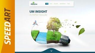 Speed Art - Responsive Web interface #Insight - Flat Design