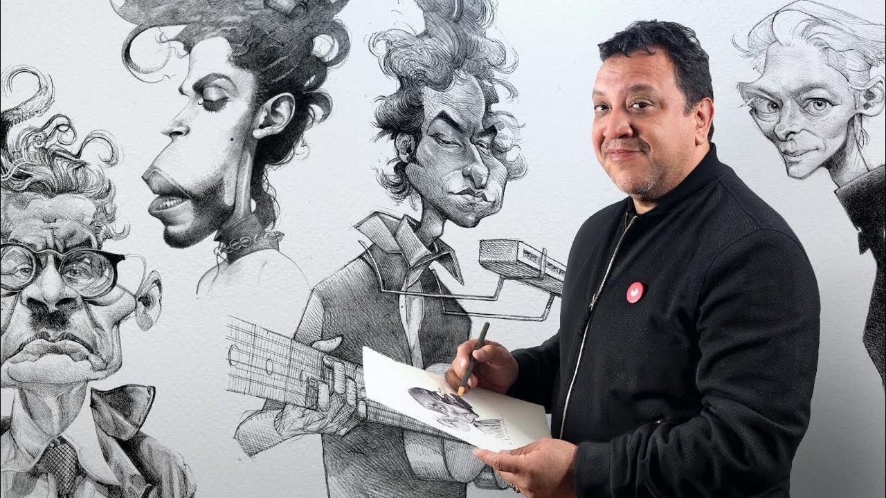Curso Online Retrato En Caricatura Con Grafito Youtube