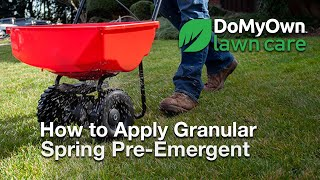 How to Apply Pre Emergent Herbicide Granules - Spring Pre-Emergent Weed Control