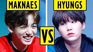 BTS Maknaes VS Hyungs