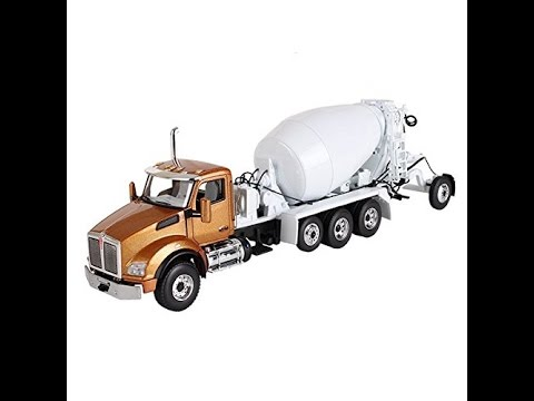Kenworth T880 with Mcneilus Bridgemaster Mixer Aztec Gold / White 1/50 Toy