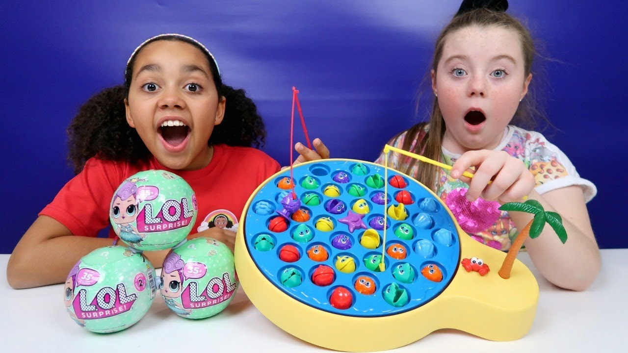 Lets Go Fishing Game Toy Challenge Lol Surprise Dolls