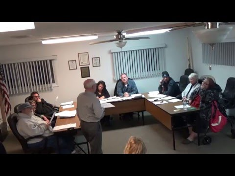 3/21/16 Village of Holiday Hills Board Meeting Part 1