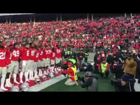 """Buckeyes sing """"Carmen Ohio"""" after win against Michigan State"""