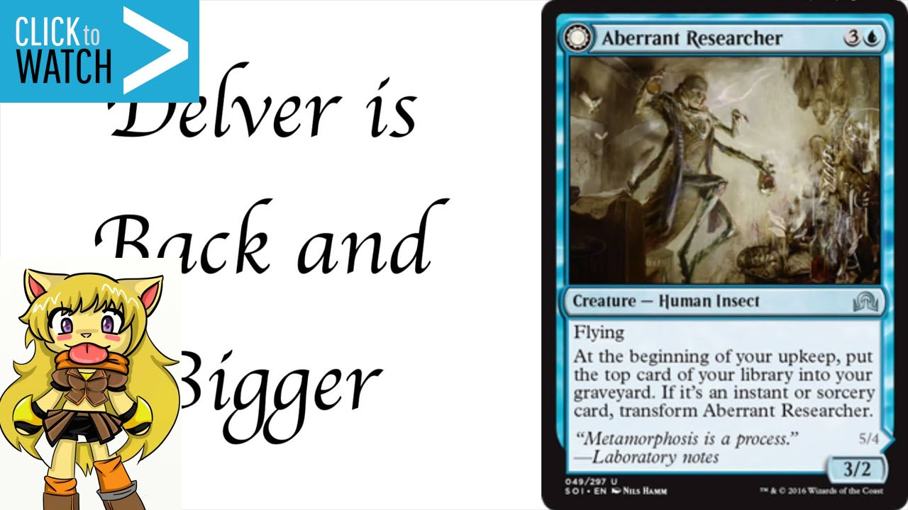 NEW Delver - Shadows Over Innistrad Spoilers - Aberrant Resarcher ...