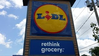 Lidl-opening day at the newest grocery store to hit the USA.