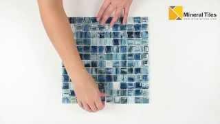 Glass Mosaic Tile Artwork Teal 1x1 - 120AVEDEWDWBDD11CB