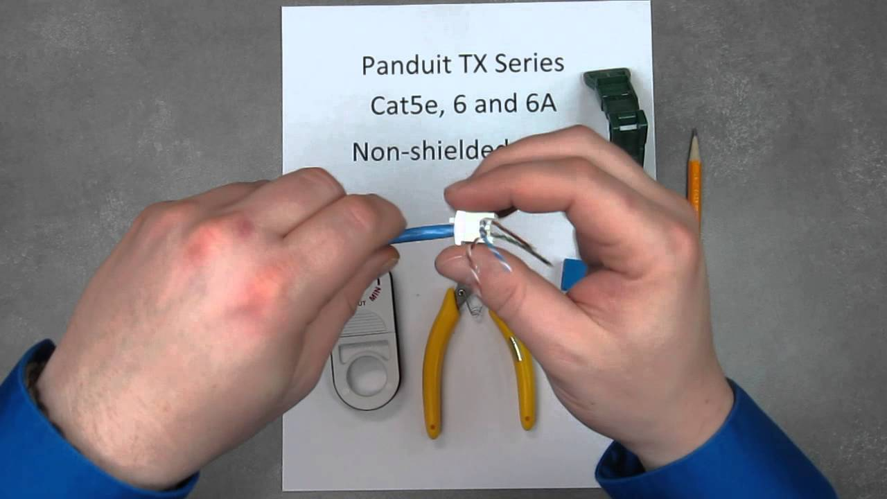 panduit cat6 rj45 jack wiring diagram [ 1280 x 720 Pixel ]
