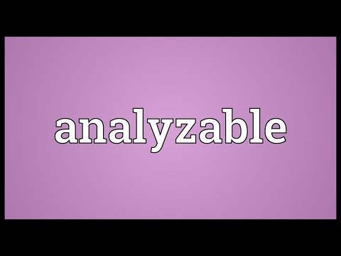 Header of analyzable