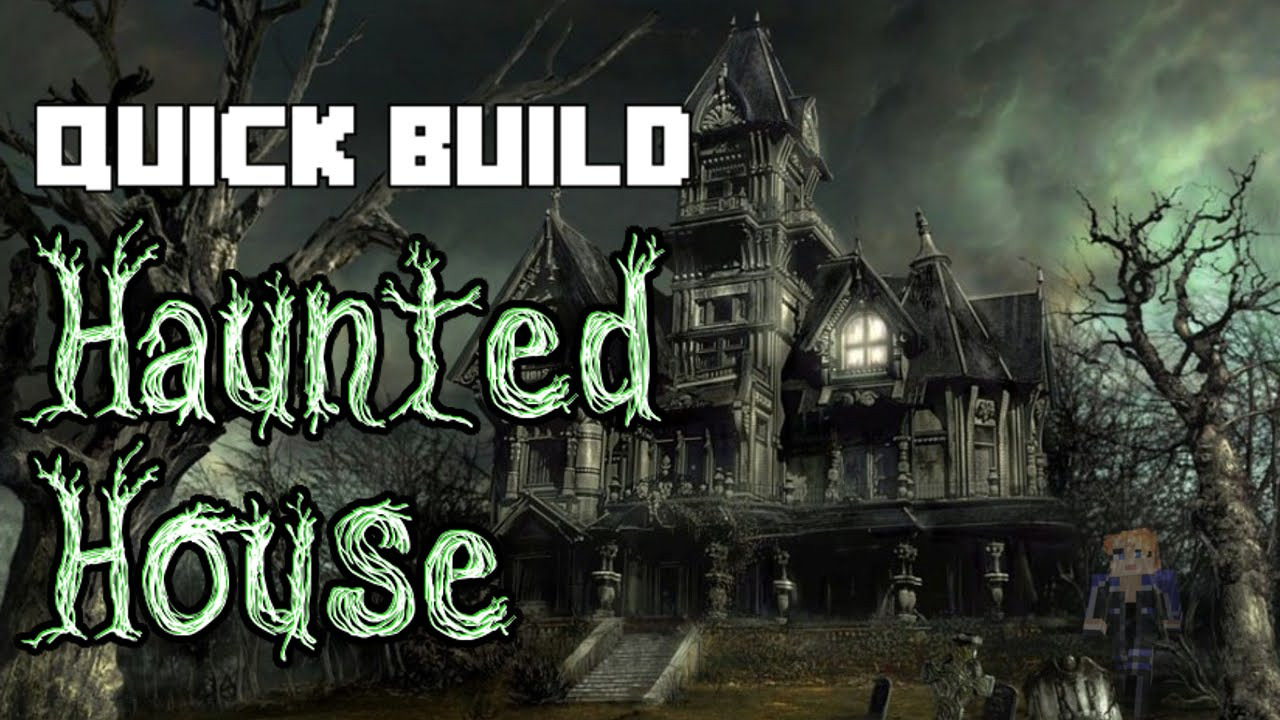 Minecraft quick build haunted house youtube for Build a haunted house