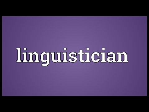Header of linguistician