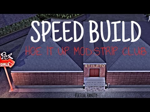 Sims 4 SPEED BUILD: HOE IT UP MOD STRIP CLUB +CC LINKS(UPDATED)