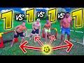 ⚽ 1 vs 1 vs 1 vs 1 FOOTBALL CHALLENGE! w/Elites & Sodin
