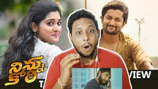 Ninnu Kori Theatrical Trailer I NorthIndian Reaction Review I Nani,Nivetha Thomas,Aadhi