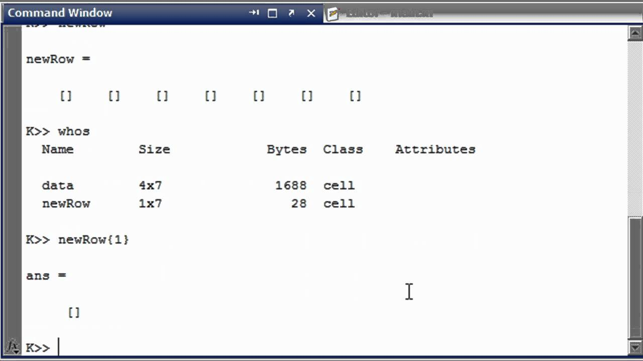 Matlab tutorial how to add to a cell array in matlab for Table 2 matrix matlab